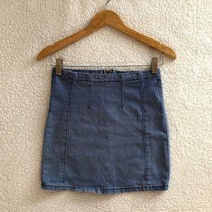 Brandy Melville rare lightwash denim Justina skirt